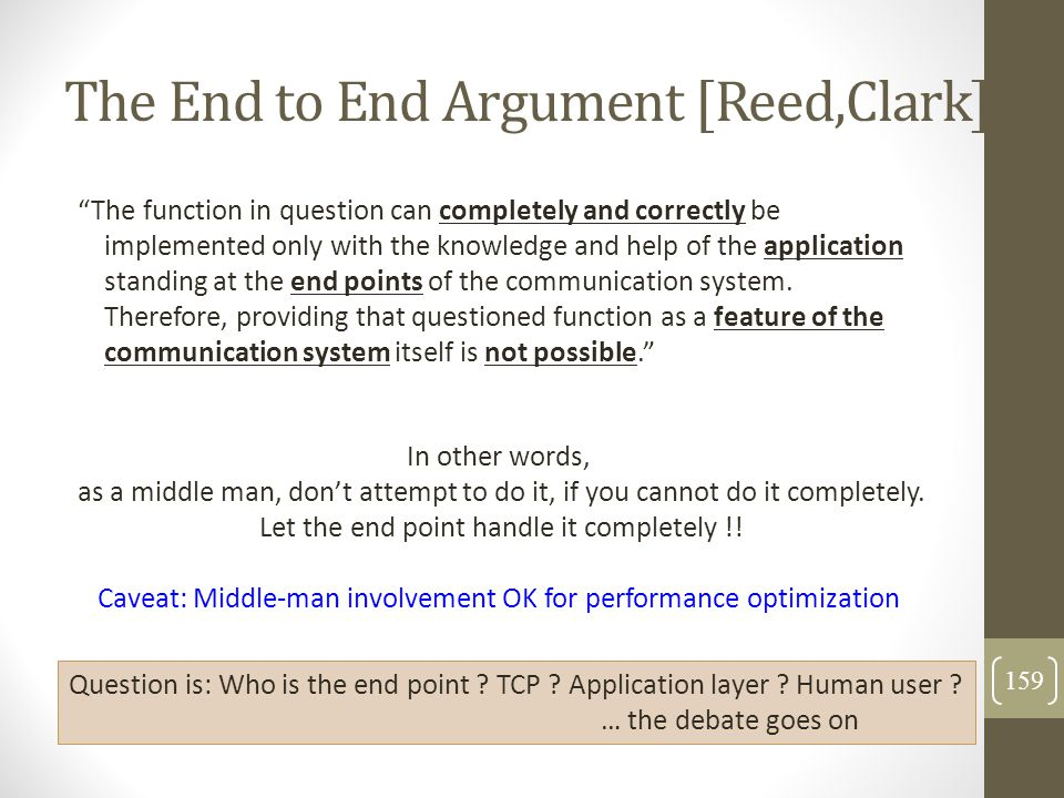 The End to End Argument [Reed,Clark]